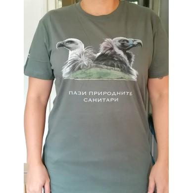 Мъжка тениска с белоглав и черен лешояд