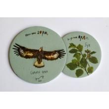 Магнит-пъзел със скален орел и бук
