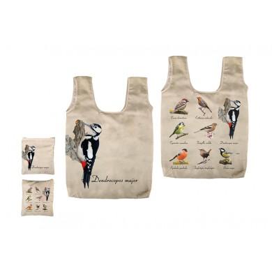 Сгъваема чанта с птици