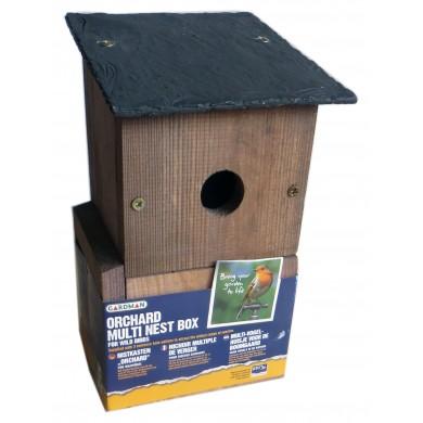 Къщичка за птици с 3 варианта на отвор