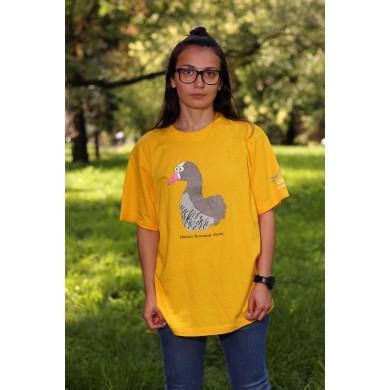 Тениска с малка белочела гъска