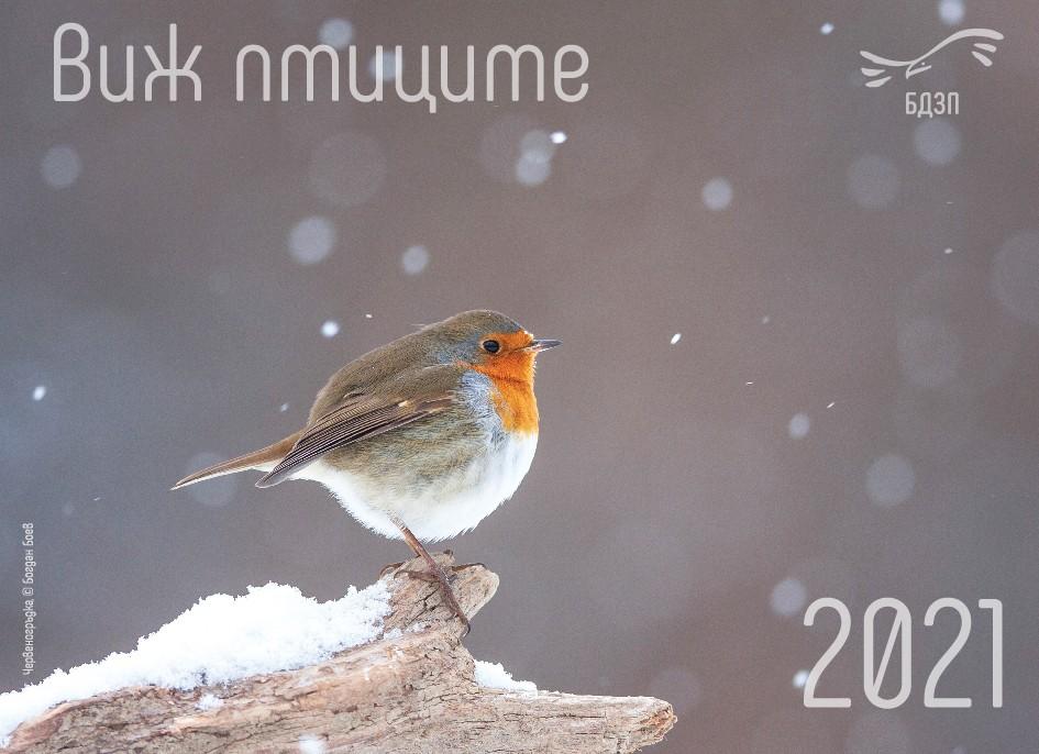 """Календар """"Виж птиците"""" за 2021 г."""