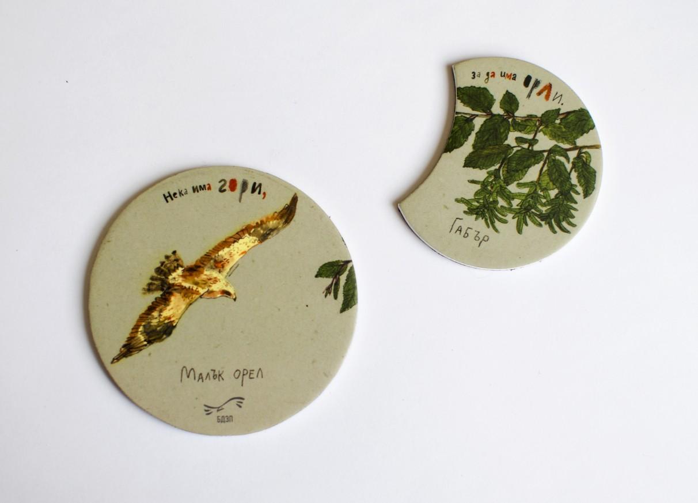 Магнит-пъзел с малък орел и габър